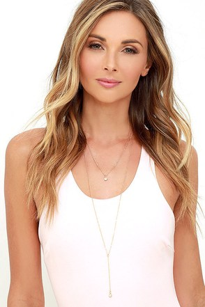 Back Two Reality Gold Layered Necklace at Lulus.com!