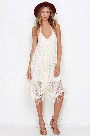 O'Neill Beacon Cream Lace Dress at Lulus.com!
