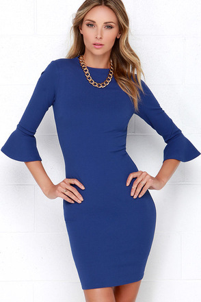 Sleeve Your Mark Royal Blue Bodycon Dress at Lulus.com!