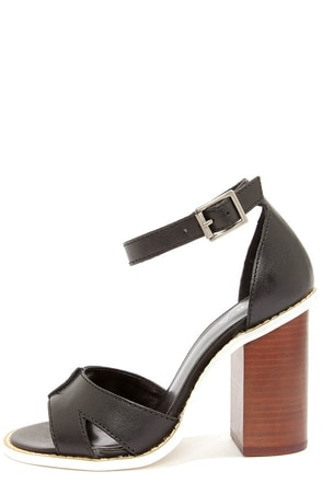 Kelsi Dagger Barcelona Black High Heel Sandals