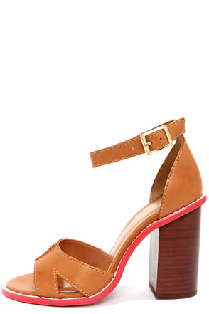 Kelsi Dagger Barcelona Cognac High Heel Sandals