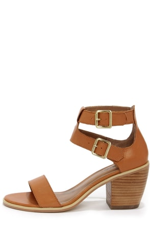Kelsi Dagger Katamandu Cognac Leather Sandals