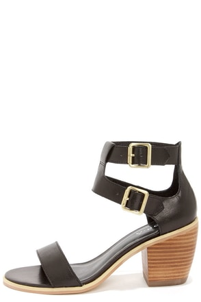 Kelsi Dagger Katamandu Black Leather Sandals