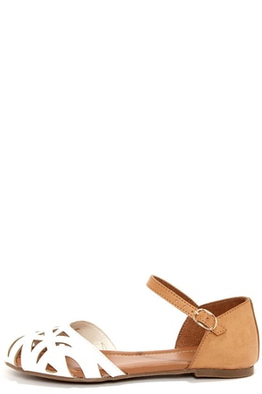 Wanted Zuma White Cutout Sandals