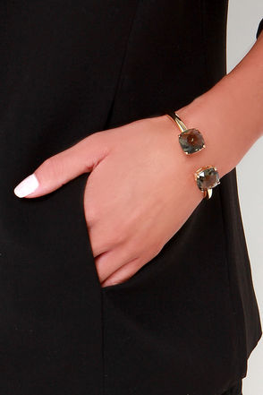 Formally Introduced Clear Rhinestone Bracelet at Lulus.com!