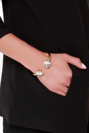 Formally Introduced Black Rhinestone Bracelet at Lulus.com!