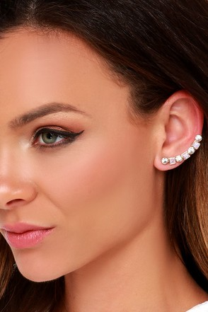 Up the Way Gold Rhinestone Ear Cuffs at Lulus.com!