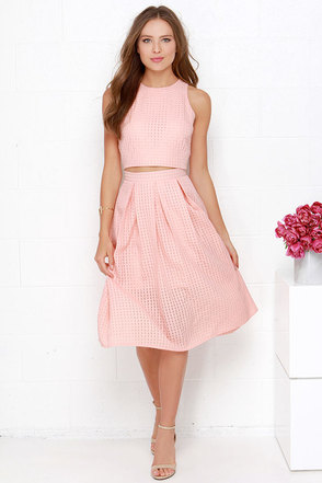 Sweet Sorbet Ivory Two-Piece Midi Dress at Lulus.com!