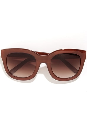Feline Rust Brown Sunglasses