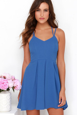 To the Rescue Blue Dress at Lulus.com!