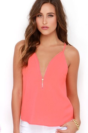 Zip into Chic Black Top at Lulus.com!