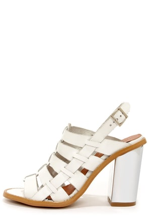 Sixtyseven 75936 Larissa Vachetta White High Heel Sandals