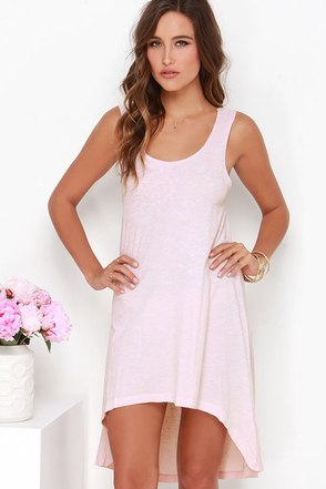 Simply Best Blush Pink High-Low Dress at Lulus.com!