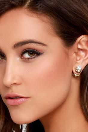 Sneak Peaks Gold Peekaboo Earrings at Lulus.com!