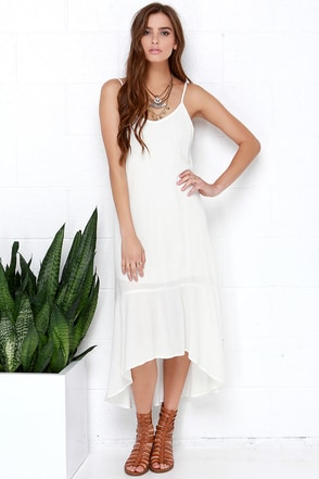 Perfect Day Ivory Midi Dress at Lulus.com!