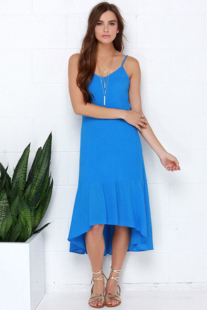Perfect Day Blue Midi Dress at Lulus.com!