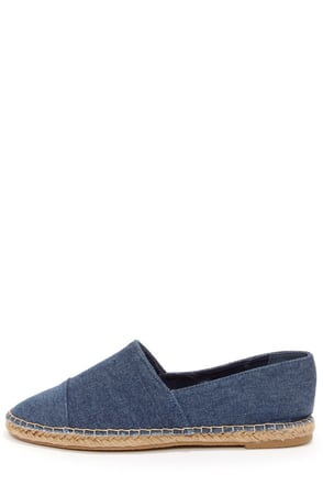 Bamboo Saturday 08 Blue Denim Espadrille Flats