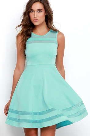 Final Stretch Aqua Dress at Lulus.com!