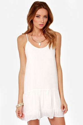 Did I Flutter? Ivory Babydoll Dress