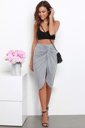 Sideshow Black Wrap Skirt at Lulus.com!