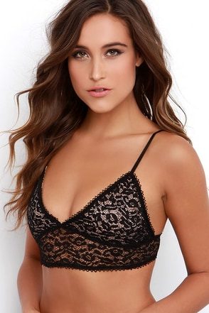 Unknown Fame Black Lace Bralette at Lulus.com!