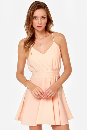 Lucy Love Penelope Light Peach Dress