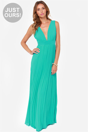 LULUS Exclusive Ciao, Ciao Bella Aqua Maxi Dress