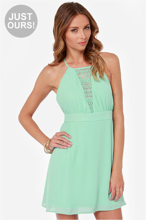 LULUS Exclusive Lacy Lass Mint Dress