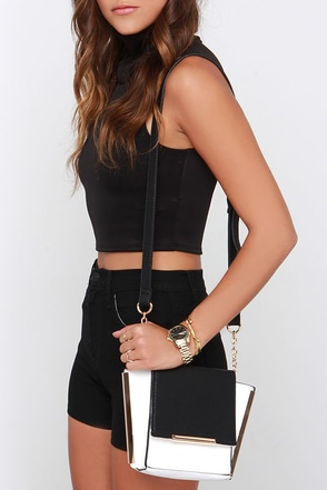 Watch Your Two-Tone Black and Ivory Purse at Lulus.com!