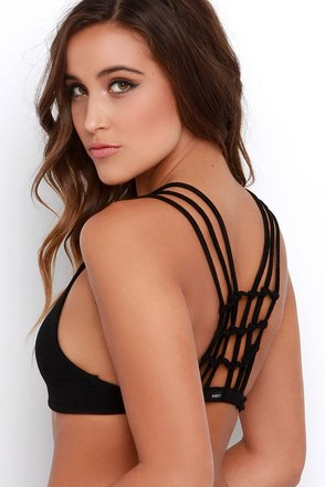 Obey Zepher Black Bra Top at Lulus.com!