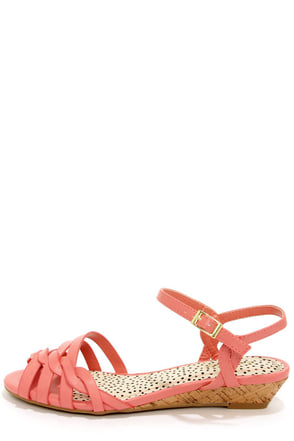 Bamboo Juniper 91 Melon Pink Sandals