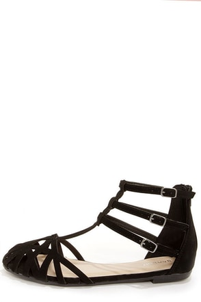 Bamboo Lynna 80 Black Suede Sandals