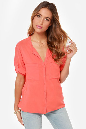Stay 'til Sunset Coral Top