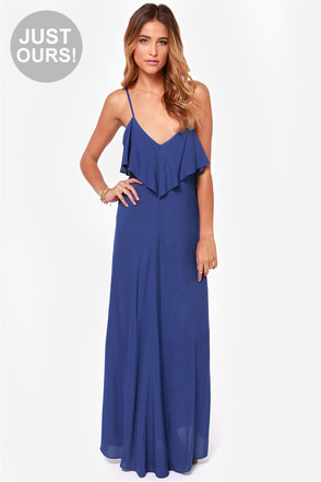 LULUS Exclusive Silent Lagoon Black Maxi Dress