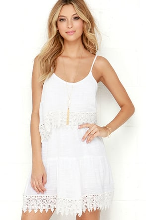 O'Neill Joan Ivory Lace Dress at Lulus.com!