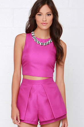 At Daybreak Magenta Two-Piece Set at Lulus.com!