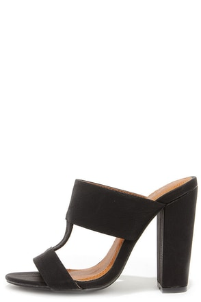 View and Improved Black Peep Toe Mules at Lulus.com!