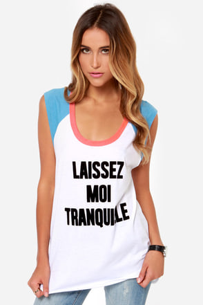 Chaser Tranquille Ivory Tank Top