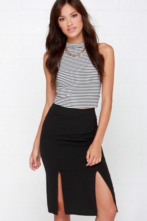 Rise to the Top Black Pencil Skirt at Lulus.com!
