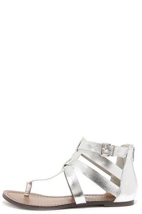Mic Drop Silver Gladiator Sandals at Lulus.com!