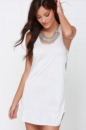 Obey Slater Light Grey Dress at Lulus.com!