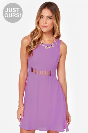 LULUS Exclusive Kiss-Krossed Purple Dress