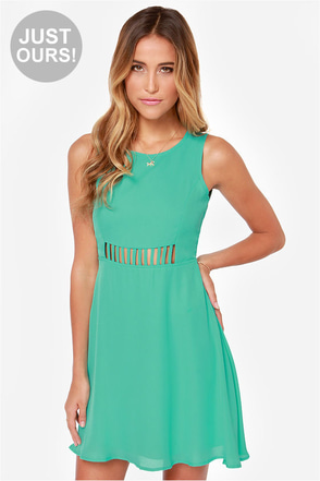 LULUS Exclusive Kiss-Krossed Sea Green Dress