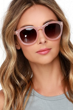 Sunshine on My Mind Light Pink Sunglasses at Lulus.com!