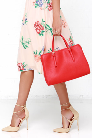 Michelle Red Handbag at Lulus.com!