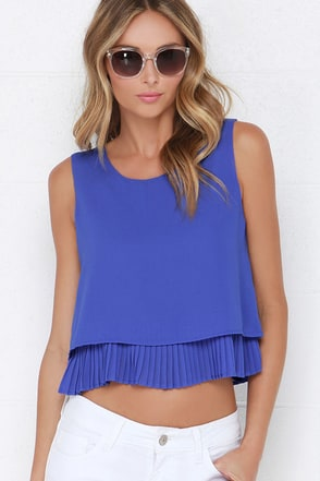 Lost in the Lights Royal Blue Top at Lulus.com!
