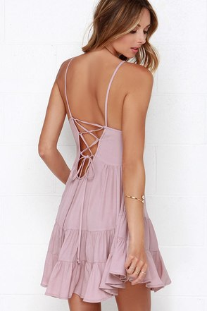 Be-you-tiful Mauve Dress at Lulus.com!