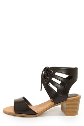 Wild Diva Lounge Alva 01 Black Cutout Sandals