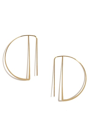 Pure and Simple Gold Threader Earrings at Lulus.com!
