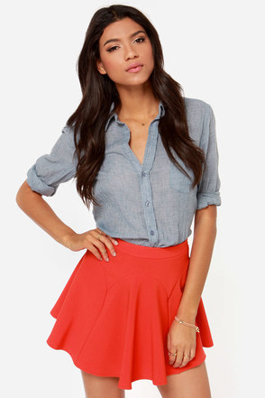 Flare Play Red Skater Skirt